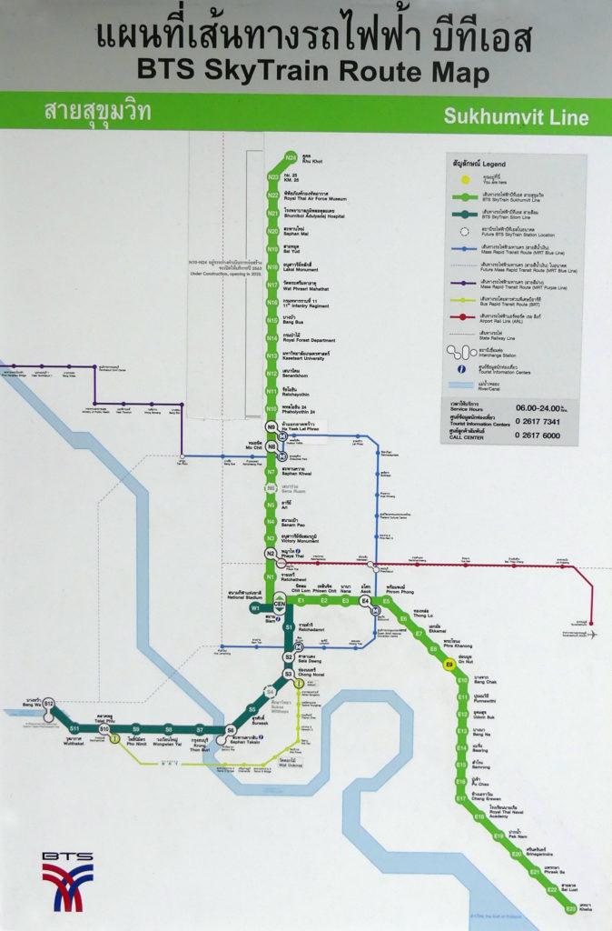 BTS Skytrain Route Map