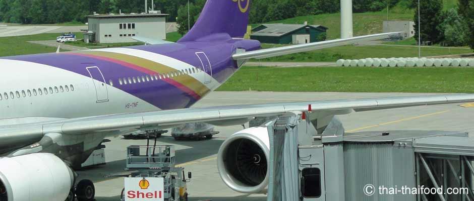 Flughafen Bangkok Ankunft