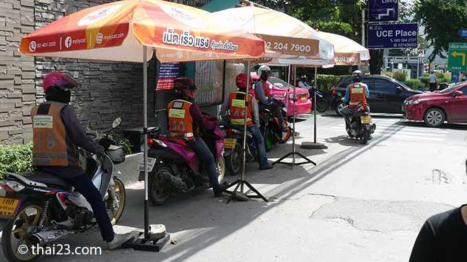 Motorradtaxi in Thailand