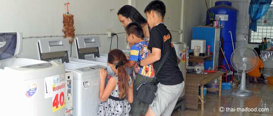 Wäsche waschen in Thailand