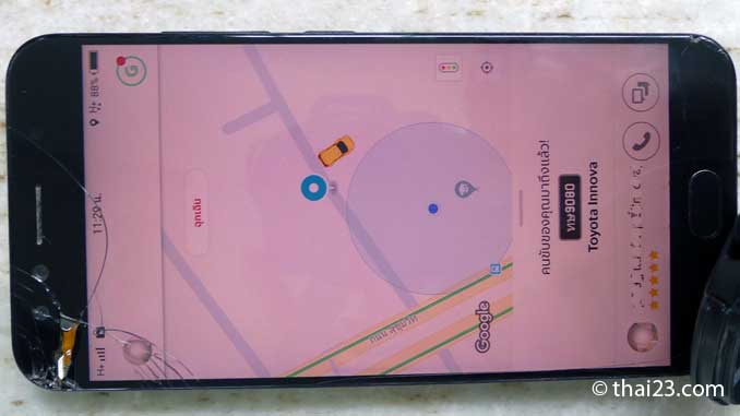GrabTaxi App Thailand