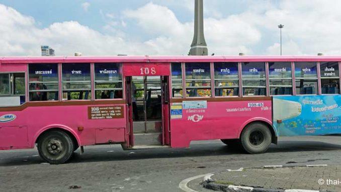 Bus fahren in Thailand