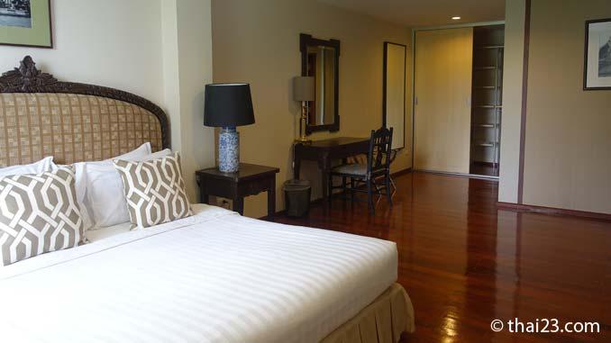 Schlafzimmer des Apartments