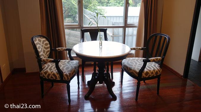 Sitzgruppe im Apartment