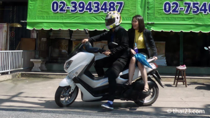 Motorradtaxi Damensitz