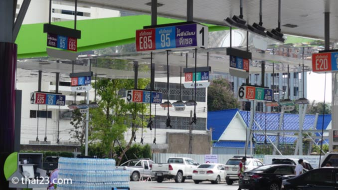 Tankstelle in Bangkok ohne Zapfsäulen